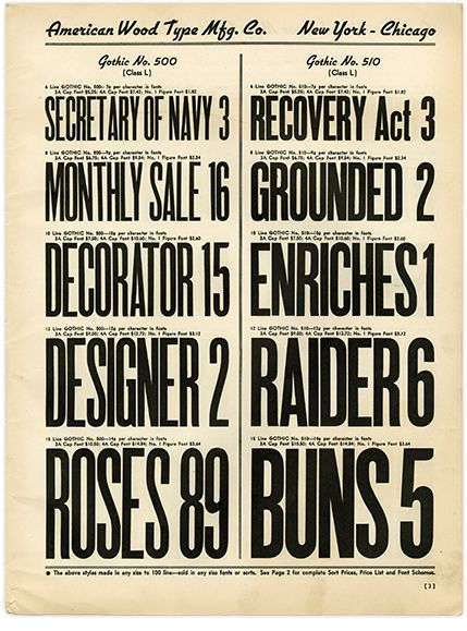 American Wood Type Wood Type Poster Types Of Wood Type Posters