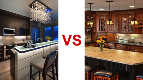 Contemporary Vs Transitional Kitchen Styles Transitional Kitchen Kitchen Style Contemporary Vs Traditional
