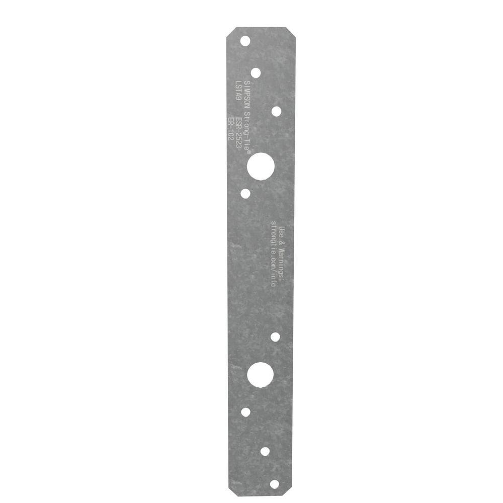 Simpson Strong Tie Lsta 1 1 4 In X 9 In 20 Gauge Galvanized Strap Tie In 2020 Hurricane Ties Steel Doors Galvanized