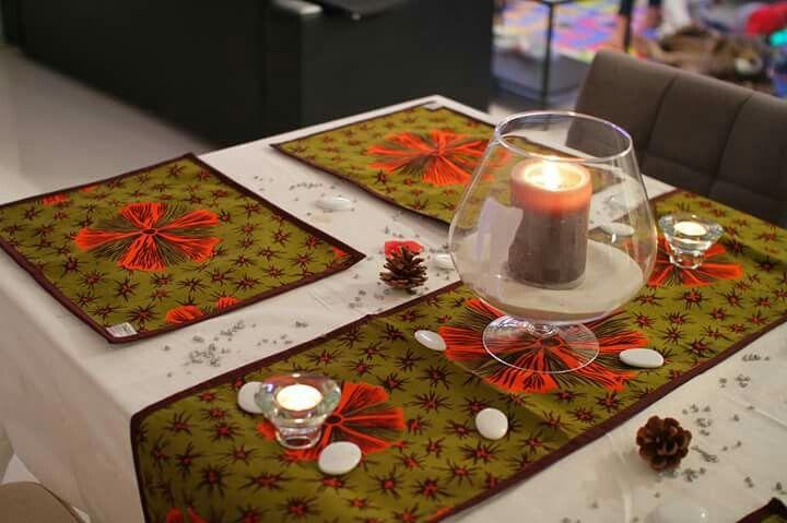 African Table / Runner / Placemat #WaxinDeco