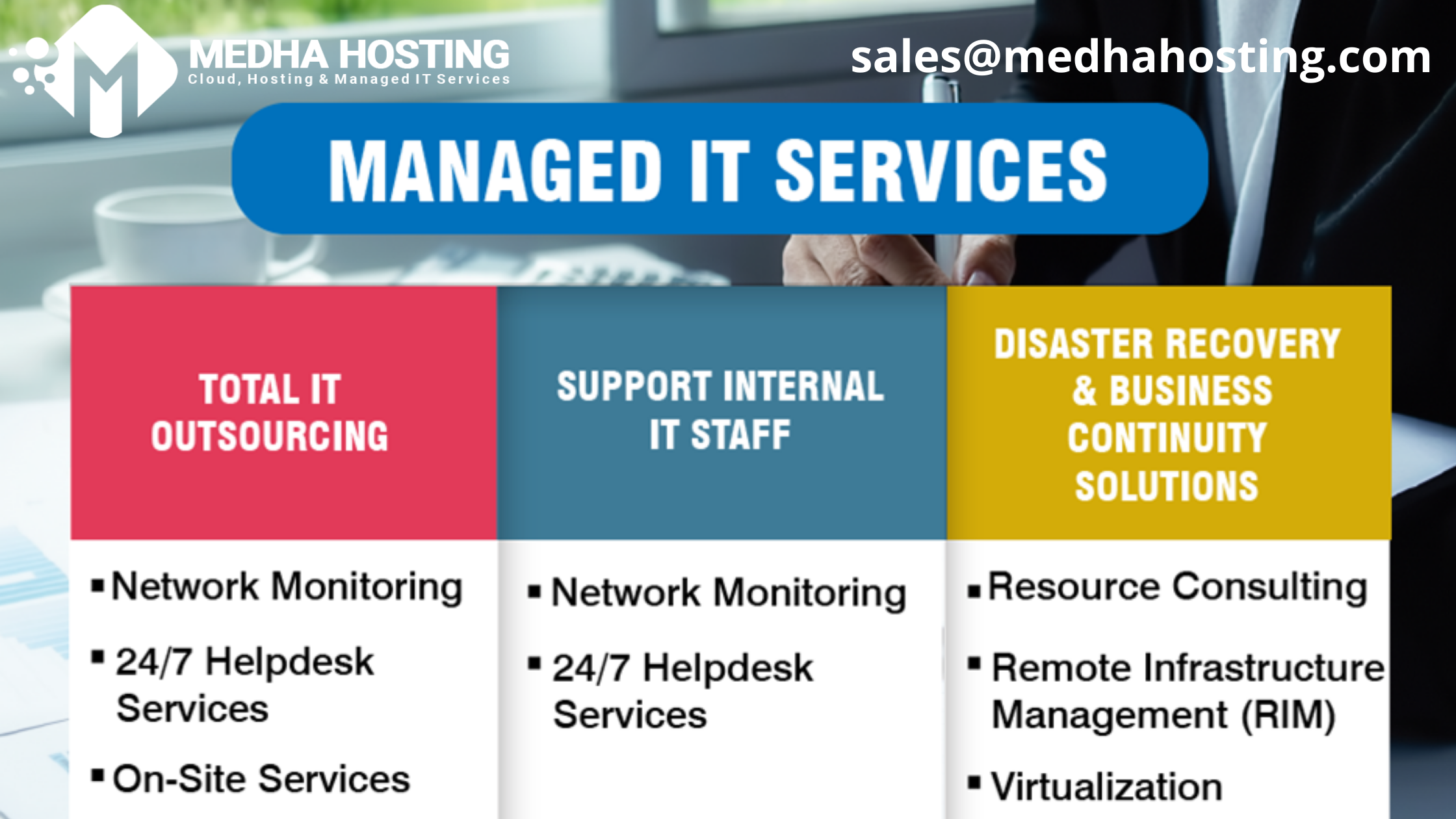 We are global, Managed IT services provider with a local approach  Reach us: @medhahosting  #manageditservices #monitoring #remotesupport #reports #productivity #remotework #professionaldevelopment