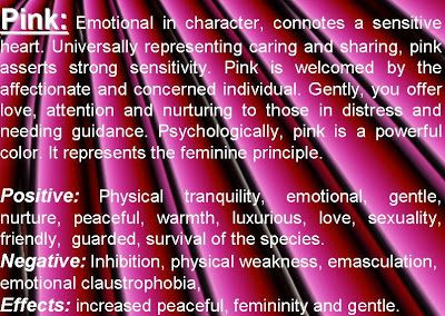 The Color Pink Meaning Of Colors Psychology Personality