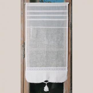 brise bise style ancien sur mesure en lin blanc et dentelle hibiscus les mesures et brise. Black Bedroom Furniture Sets. Home Design Ideas