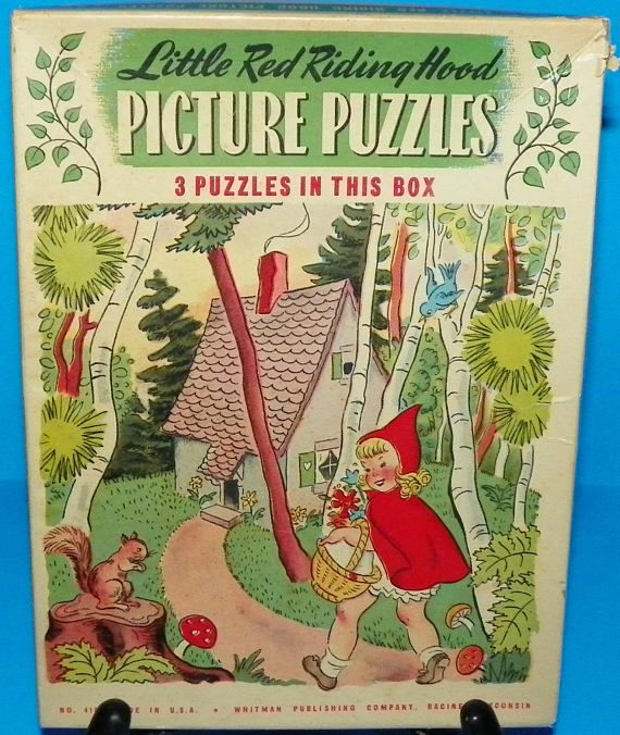 Vintage Puzzle Collection ~ Little Red Riding Hood Picture