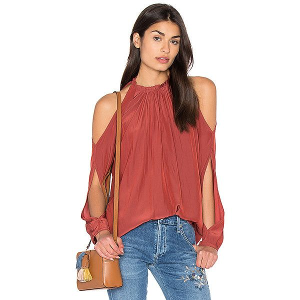 3dca1c31d2b5e RAMY BROOK Milan Cold Shoulder Top ( 330) ❤ liked on Polyvore featuring tops