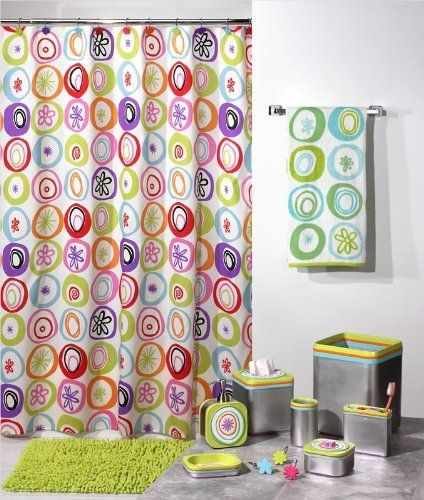 All That Jazz Retro 60 S Starburst Shower Curtain Fabr By Creative