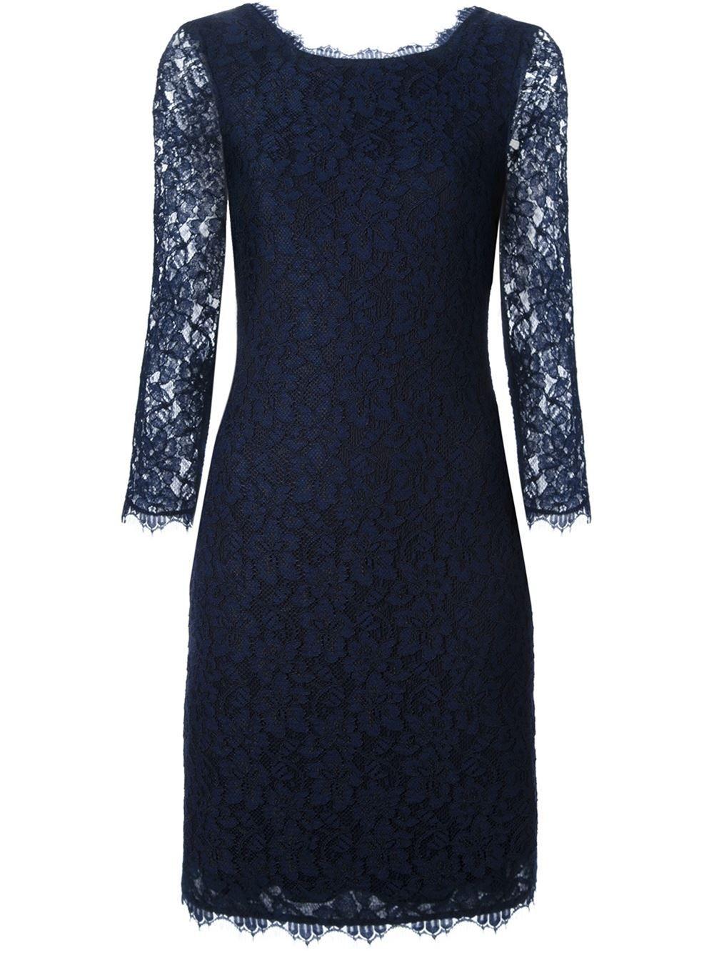 062f7f063 Diane Von Furstenberg Vestido azul marinho | vestir em 2019 ...