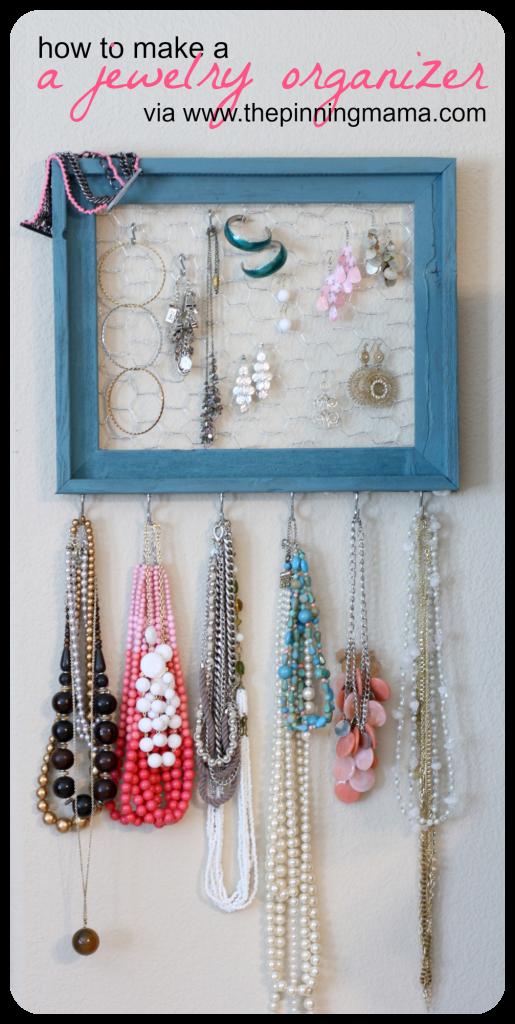 diy How to Make a Jewelry Organizer Chicken wire Dorm and Craft