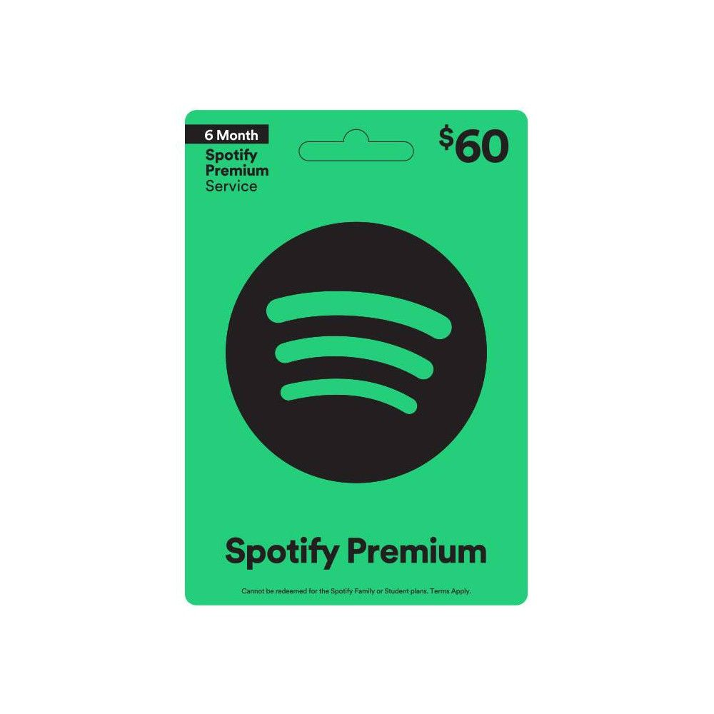 Spotify $60 (Email Delivery), Adult Unisex