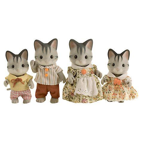 Sylvanian Families GRAYISH CAT FAMILY Epoch Calico Critters