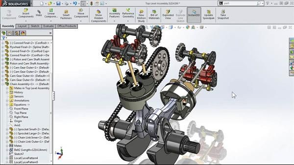 Solidworks Vs Autocad 2 Solidworks Motorcycle Engine Autocad