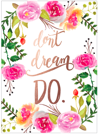 Watercolor floral motivational greeting card dream floral border watercolor floral motivational greeting card dream floral border minted submission m4hsunfo