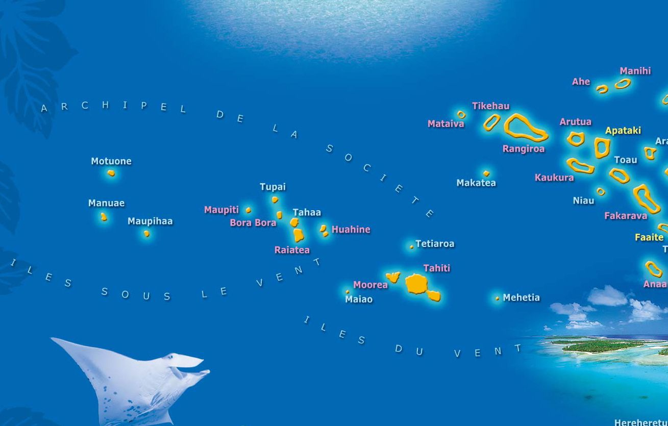 Map of french polynesia french polynesia pinterest french map of french polynesia gumiabroncs Images