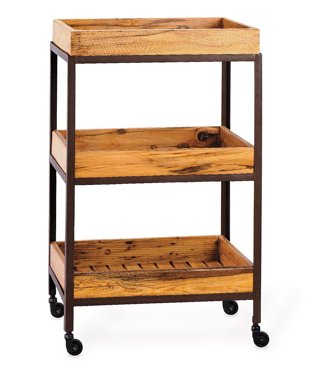 Bentley Industrial Metal And Wood Wheeled Kitchen Serving: Metal And Wood Wheeled Tray Cart For The Kitchen