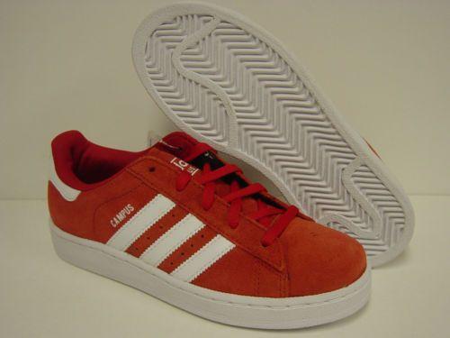 Nueva juventud Boys Girls SZ 7 y Adidas Campus 2 g47156 zapatillas rojas