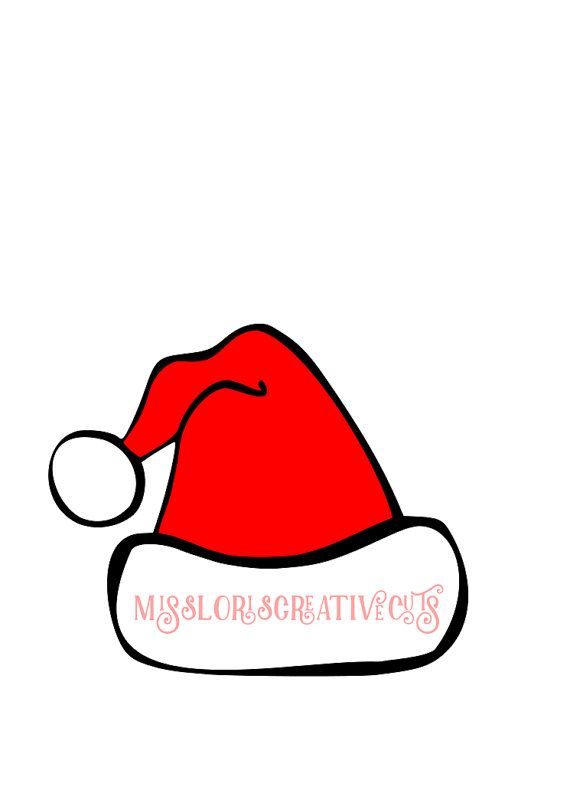 b835e476a4b23 Santa Hat 2 SVG Cut file Christmas Cricut by MissLoriscreativecut