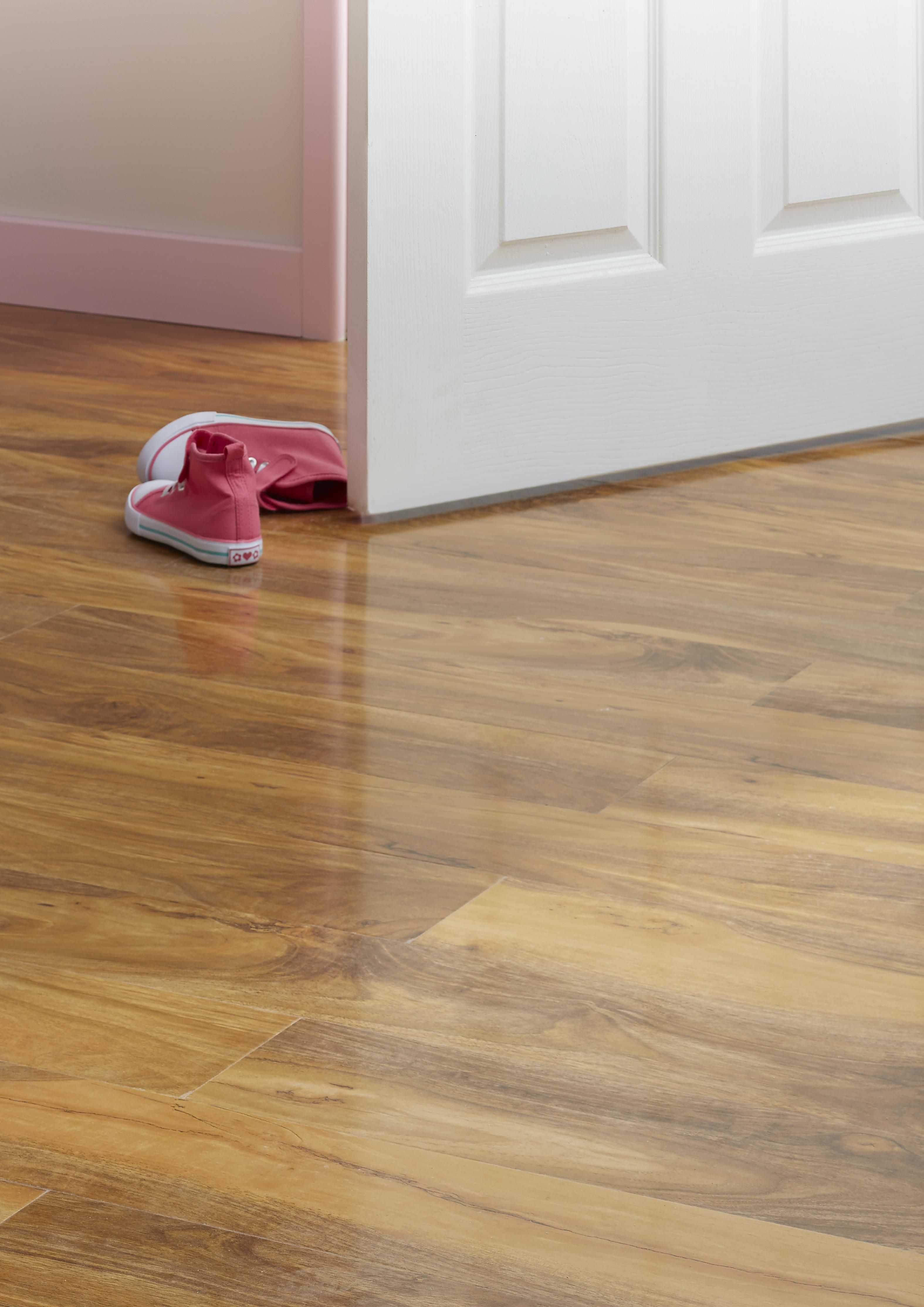 Colours Dolce Walnut Effect Laminate Flooring Is Hardwearing And Ideal For A Kids Bedroom Team With Cosy Rug To Keep Feet Warm