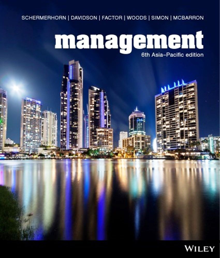 Management 6th edition ISBN-13 : 9780730329534It is a PDF eBook Only ! !  Digital