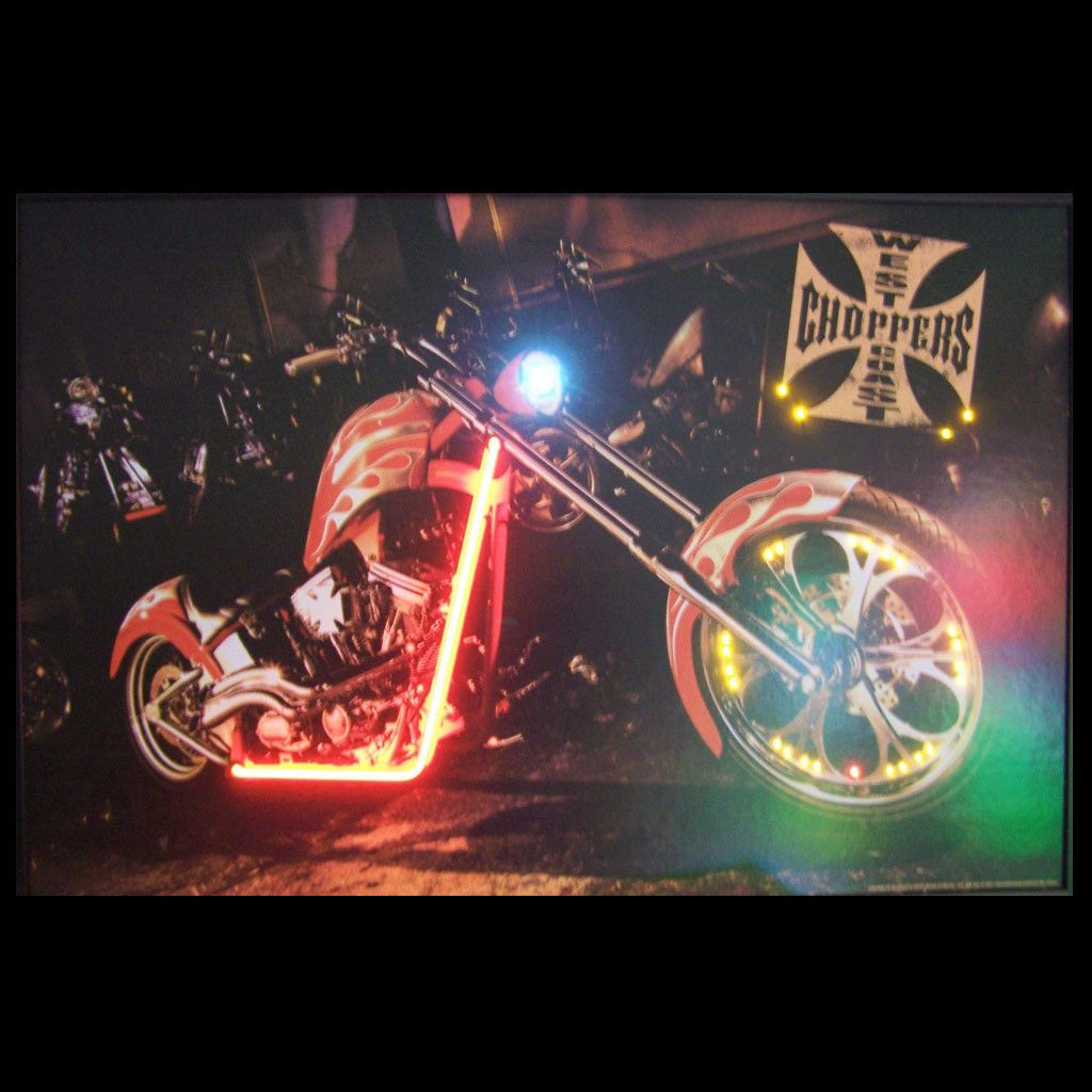 WEST COAST CHOPPERS BIKE NEON LED PICTURE