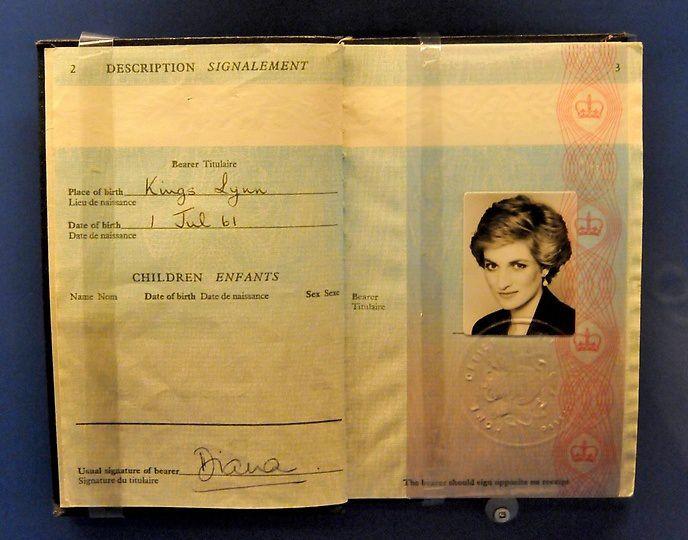 Princess Diana's British passport
