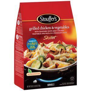 Stouffer S Skillet Grilled Chicken Vegetables 25 Oz Grilled Chicken Chicken And Vegetables Food