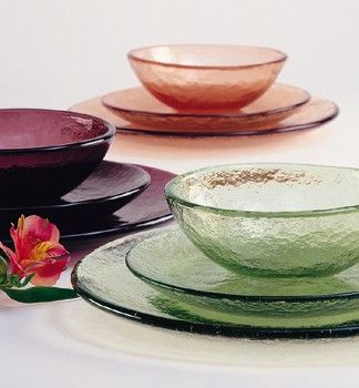 Recycled Glass Dinnerware - Material Possessions   Things ...