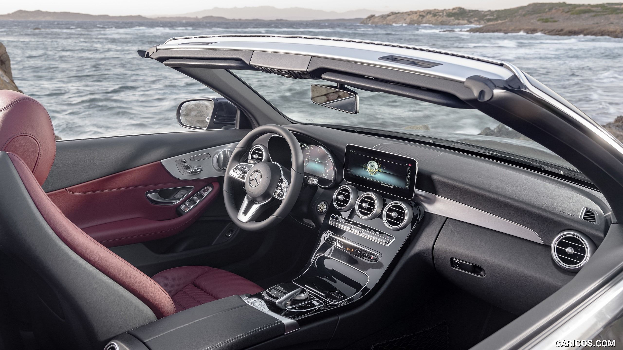 The Interior Of The New Mercedes Benz C Class Coupe Combines