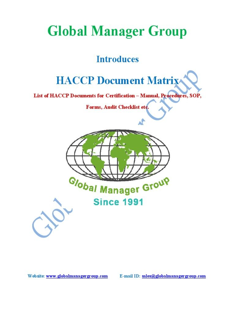 Pin By Global Manager Group On Haccp Certification Pinterest