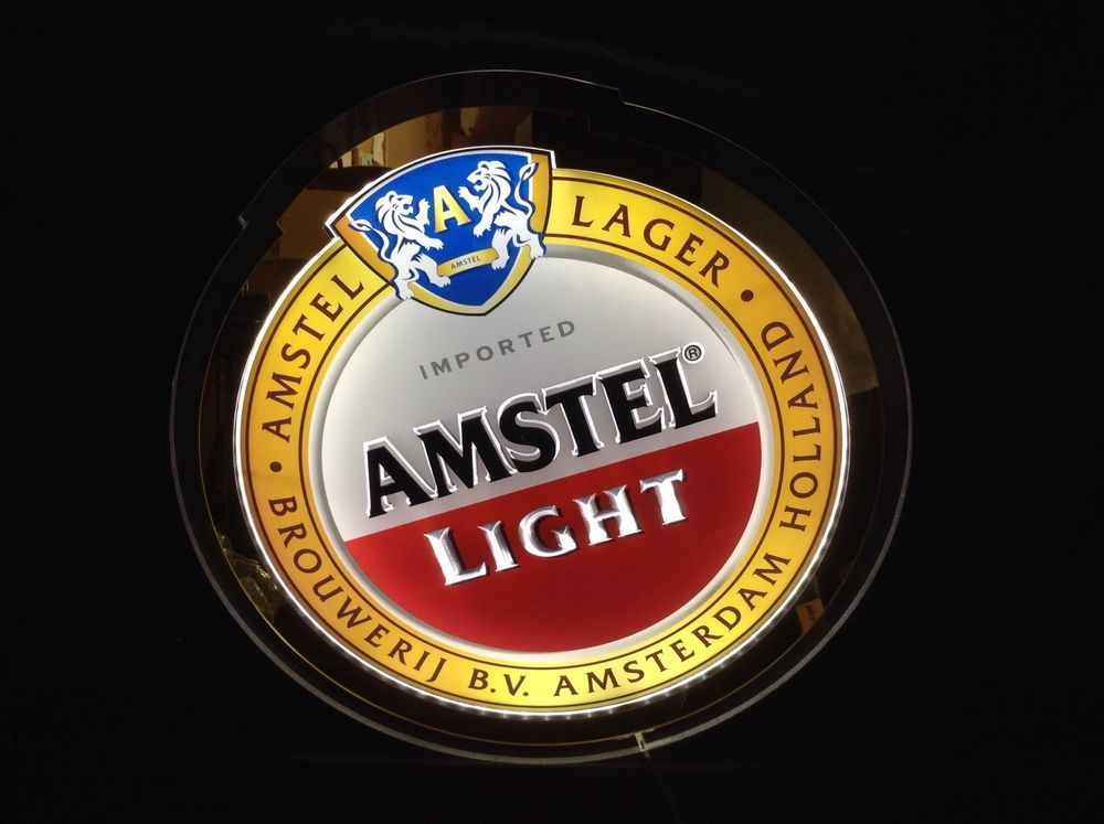 Amstel Light Led Neon Beer Sign New In Box Bar Pub Amsterdam Man