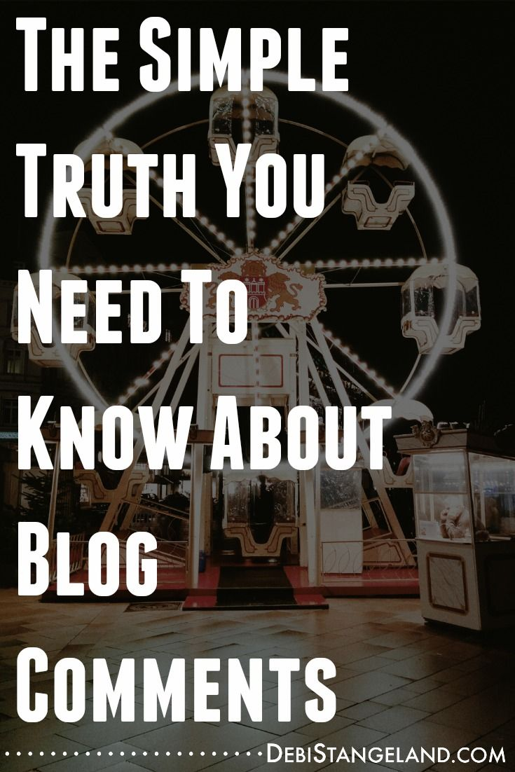 The Simple Truth You Need To Know About Blog Comments