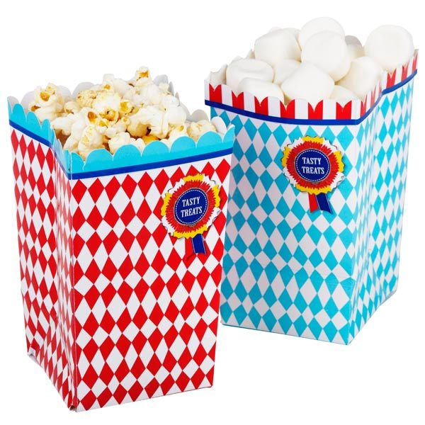 Village Fete Treat Holder Popcorn Boxes | Sweet Boxes Sweet Bag - Buy at drinkstuff