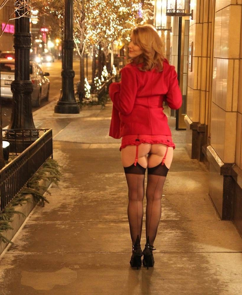 Moms in stockings and heels