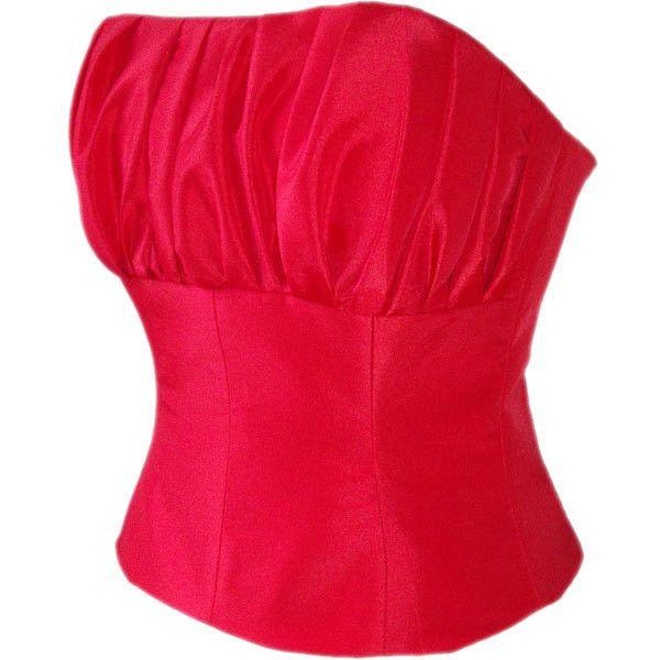Red Taffeta Corset