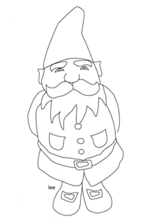 Gnome Coloring Pages | Coloring pages, Fairy coloring, Gnomes