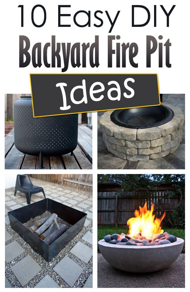 10 Easy DIY Backyard Fire Pit Ideas → Backyard fire