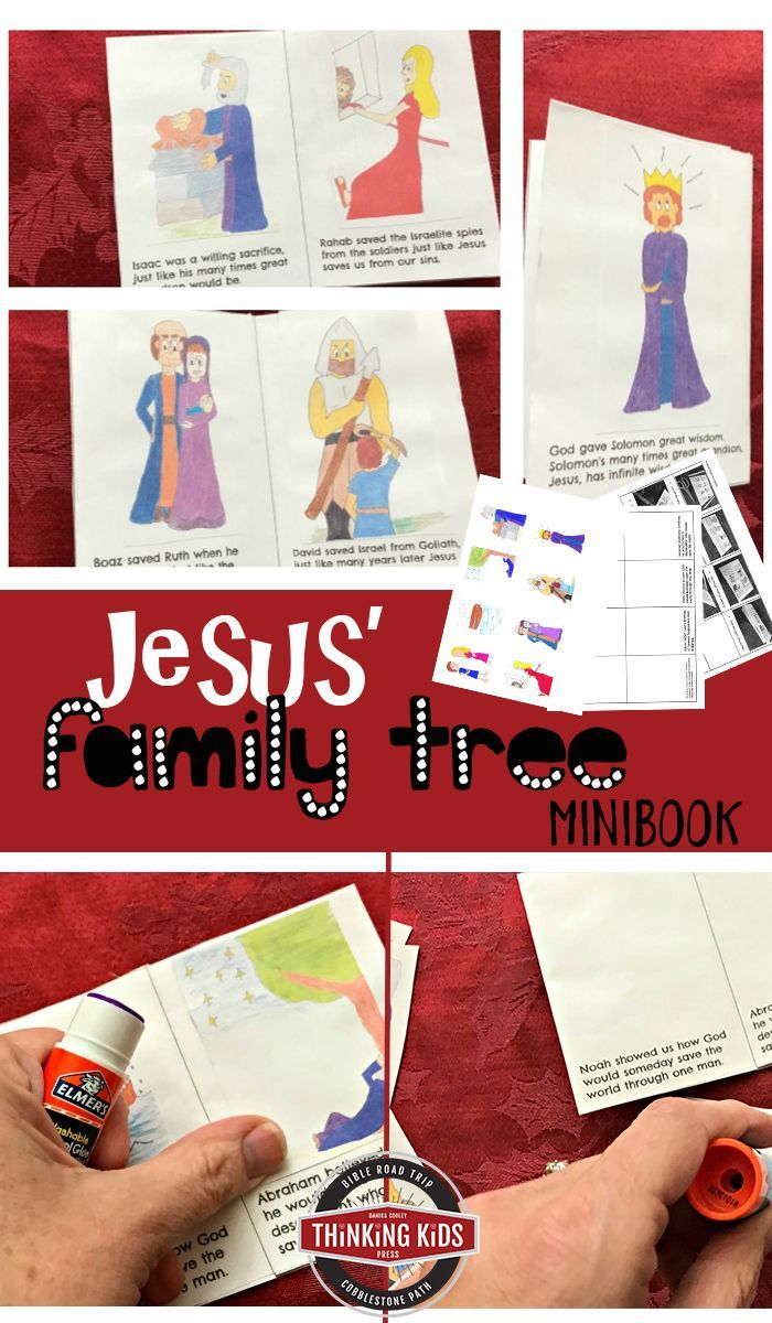 Jesus\' Family Tree Minibook | Family trees, Bible crafts and Craft