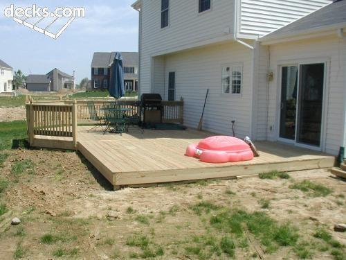 Ground Level Deck Instead Of Concrete Ground Level Deck
