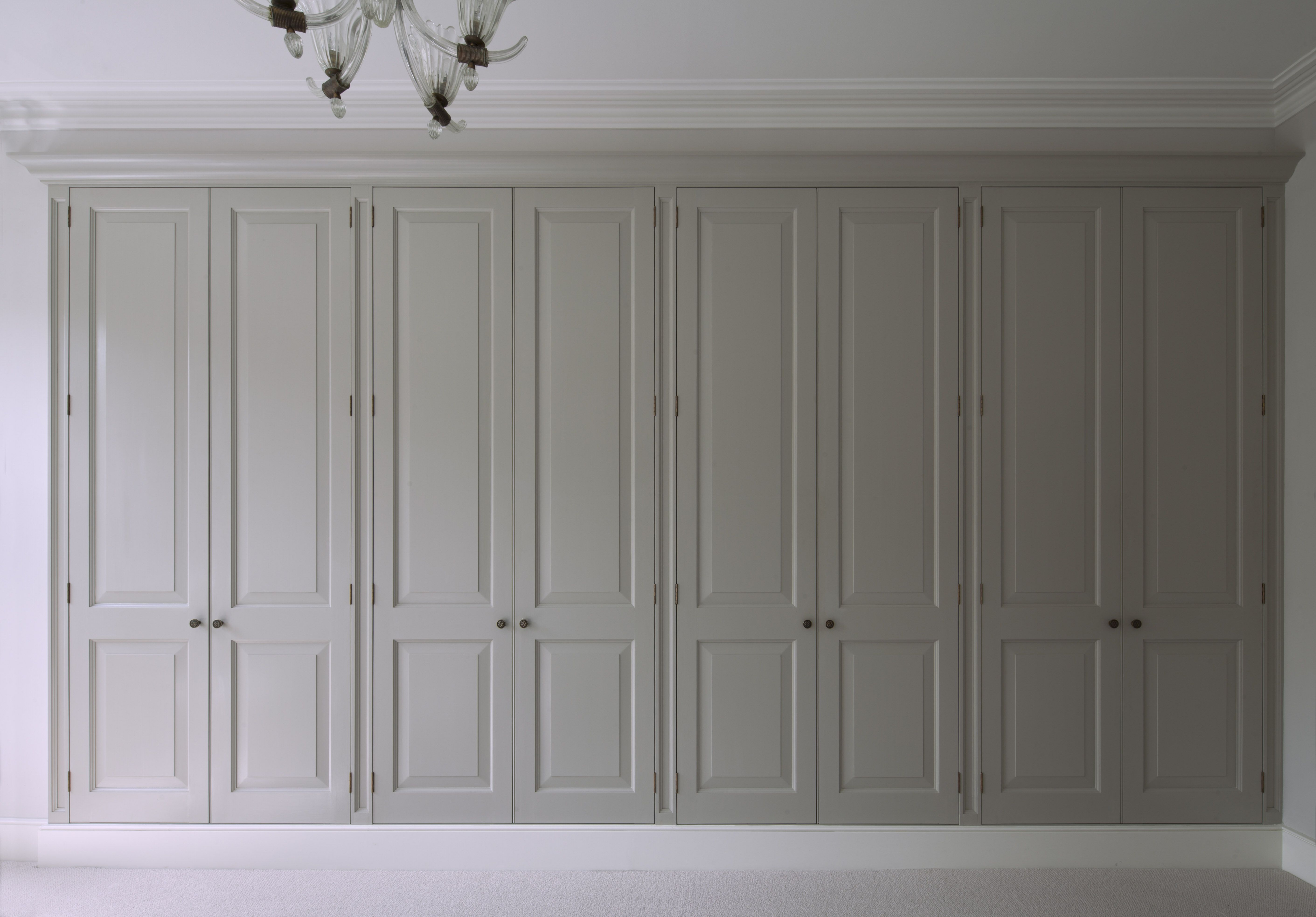 Master Bedroom Bespoke Wardrobes, Timber Doors With Raised And Fielded