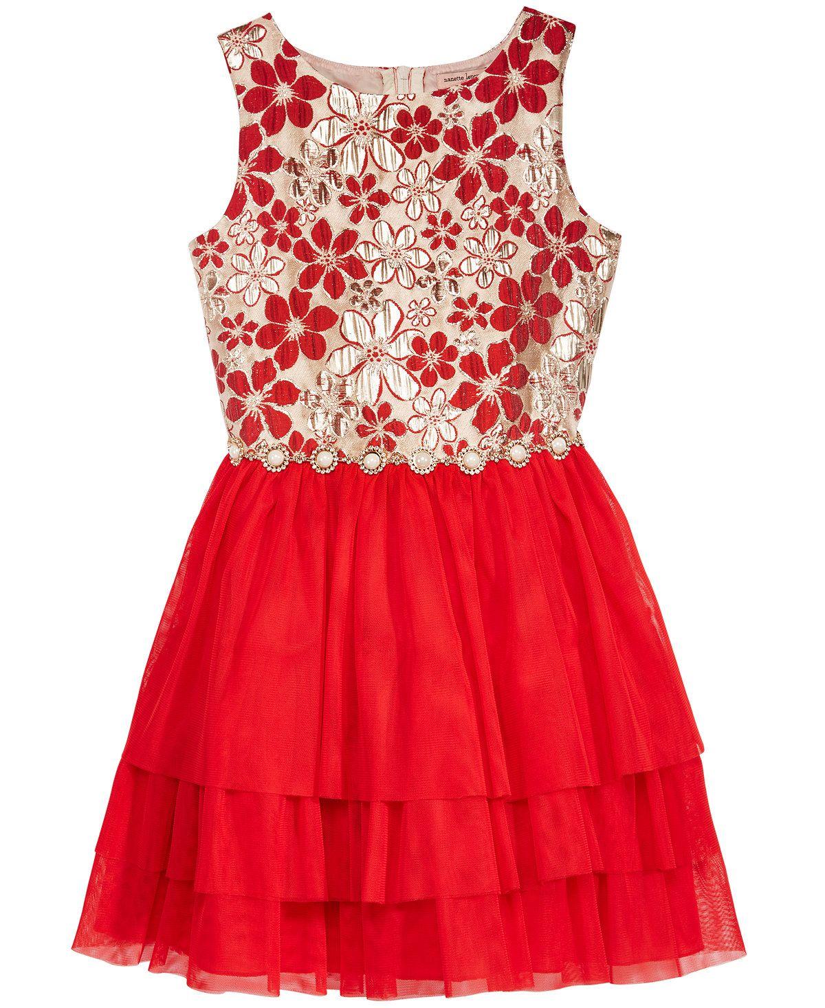 45791c38b8 Nanette Lepore Brocade Bodice Dress