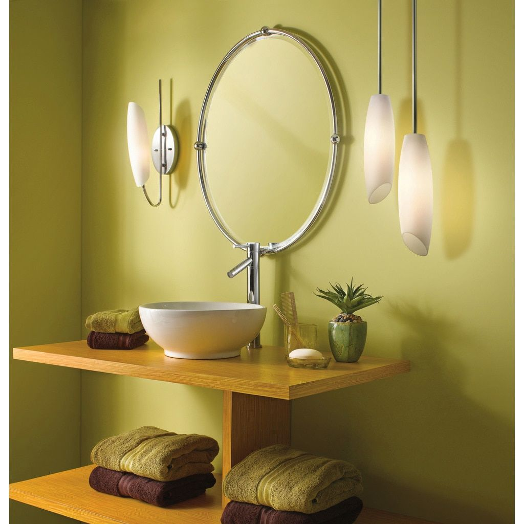 Kichler lighting stella collection light chrome mini pendant grey