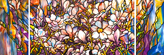 Tiffany glass window up for auction through Sotheby's New York. #art #design #beautiful