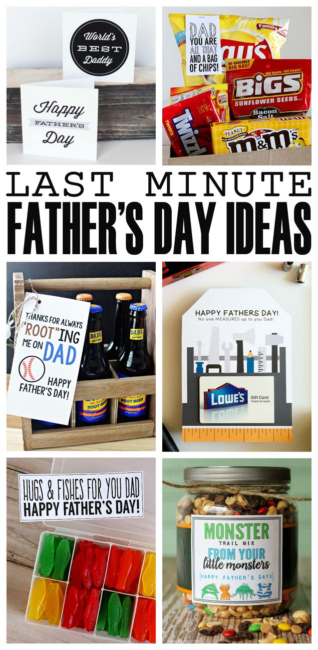 Last minute father 39 s day ideas awesome dads and gift tags for Last minute diy birthday gifts for dad