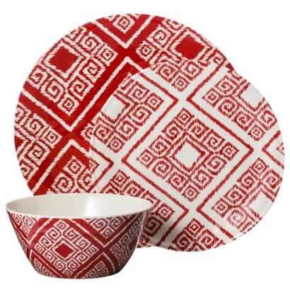 Threshold™ Aztec 12-Piece Melamine Dinnerware Set available at @Target $31.99 (  sc 1 st  Pinterest & Threshold™ Aztec 12-Piece Melamine Dinnerware Set available at ...