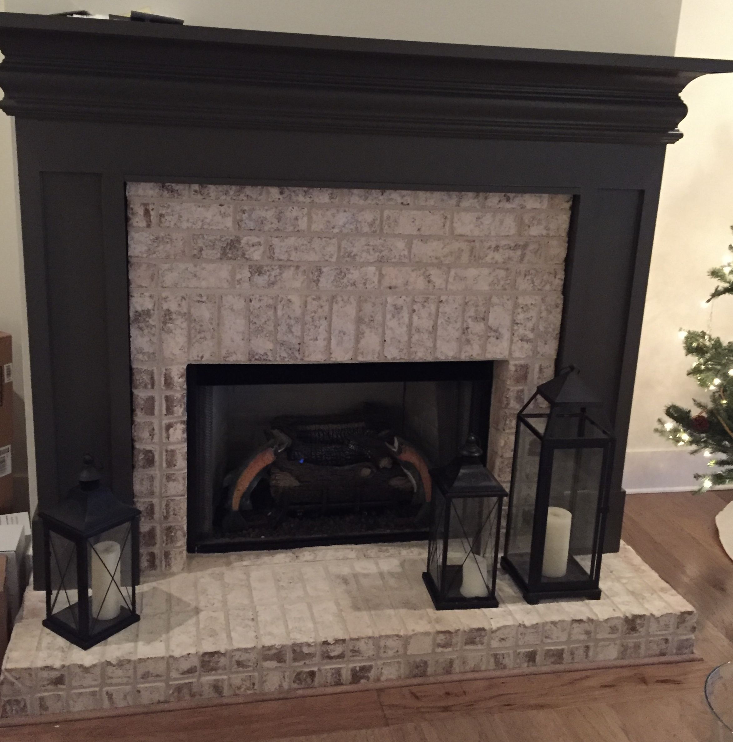 Chelsea Fireplace With 6 Hearth Walmac Brick With Ivory Buff