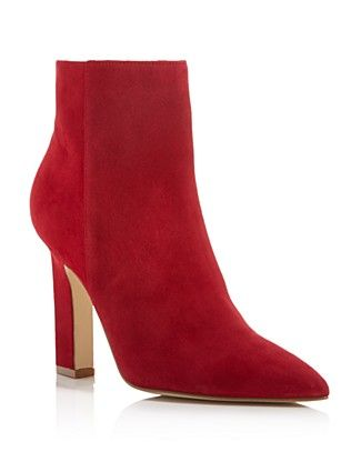 305361316a15 Marc Fisher LTD. Mayae Suede Pointed Toe High Heel Booties - 100% Exclusive
