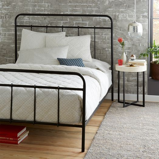 Imogene Metal Bed - Gunmetal | West Elm --I always find myself drawn ...