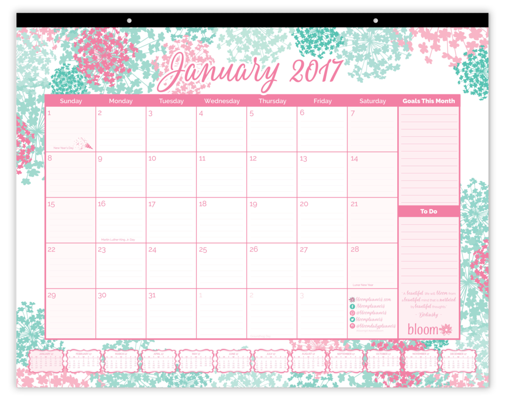 2017 Desk Calendar PRE-ORDER, Bloom | Bloom Planners: 2017 Daily ...