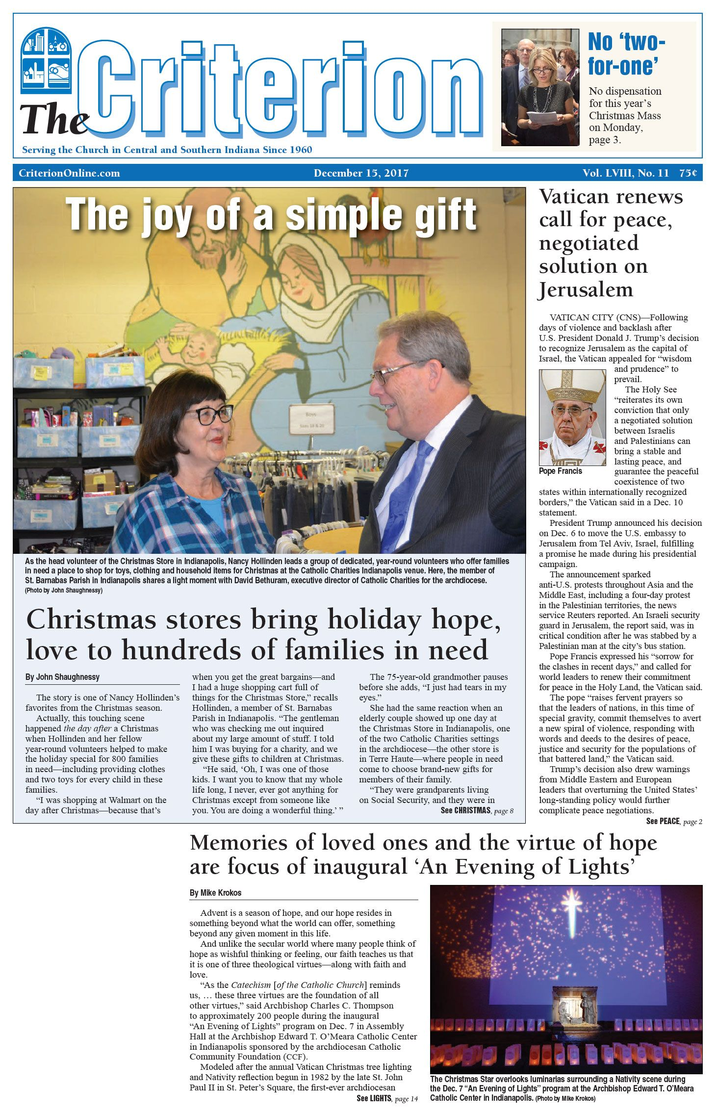 Read The Headlines From The December 15 2017 Issue Of The