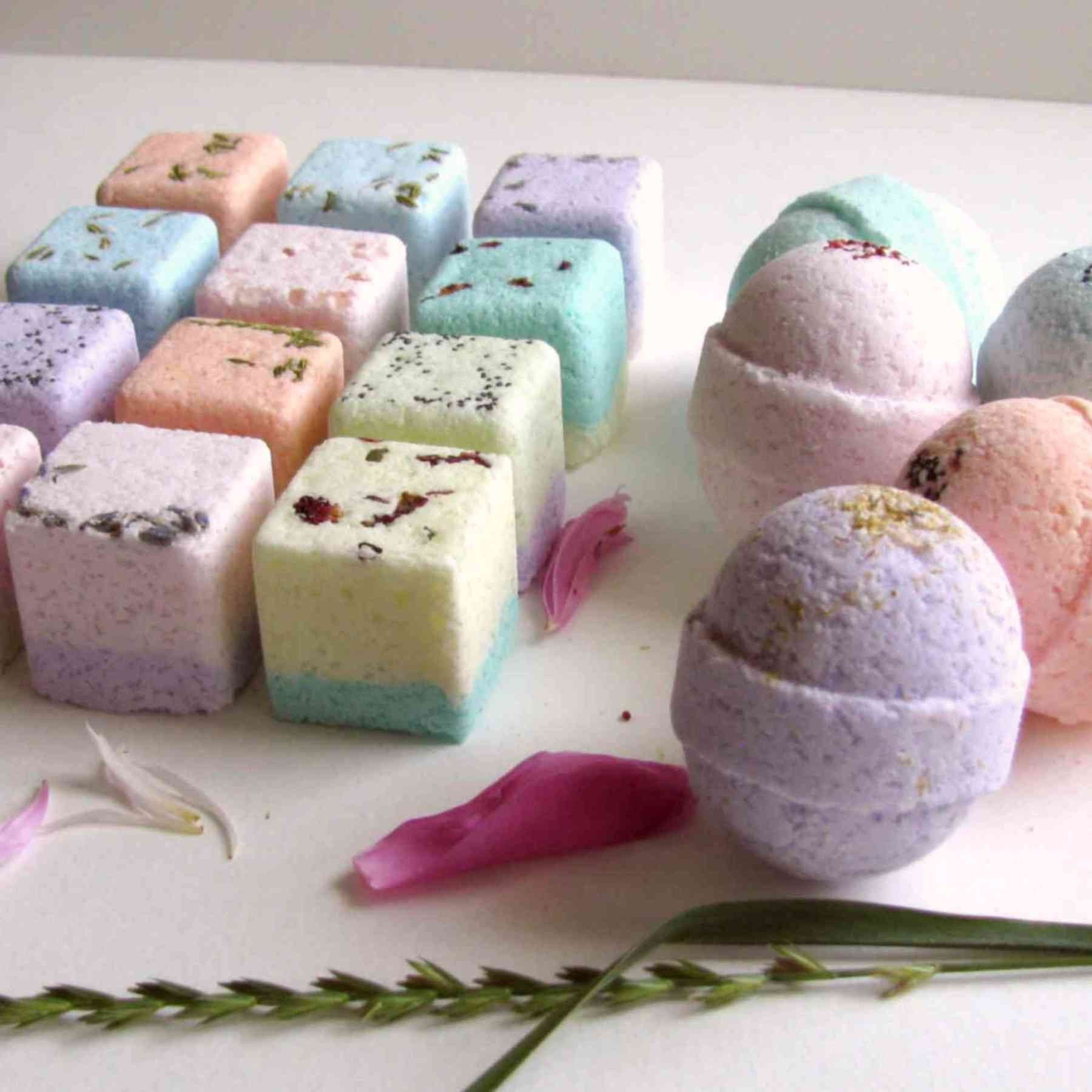 Bath bombs and shower steamer ultra lush essential oil spa