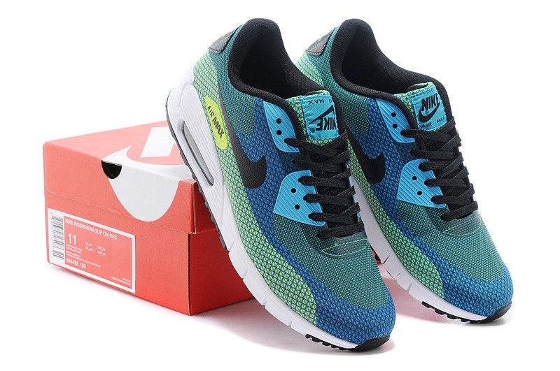 cheap for discount 7a9e4 a12c9 Nike Air Max 90 Jacquard blue black white vold green via MFancy Boutique.  Click on the image to see more!
